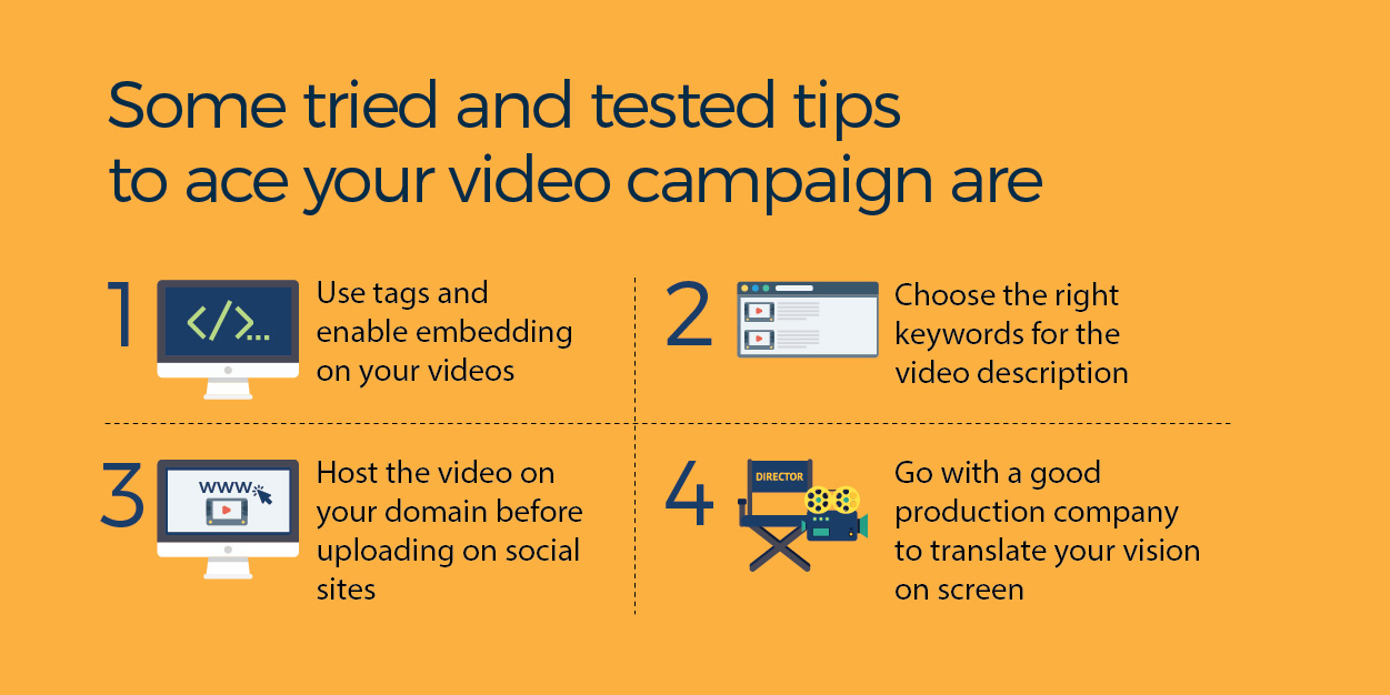 tips to ace your video campaign